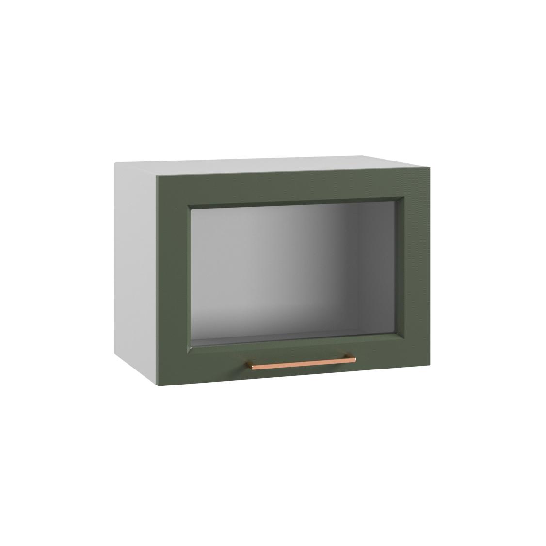 Кухня Квадро ПГС 500 Шкаф верхний горизонтальный стекло