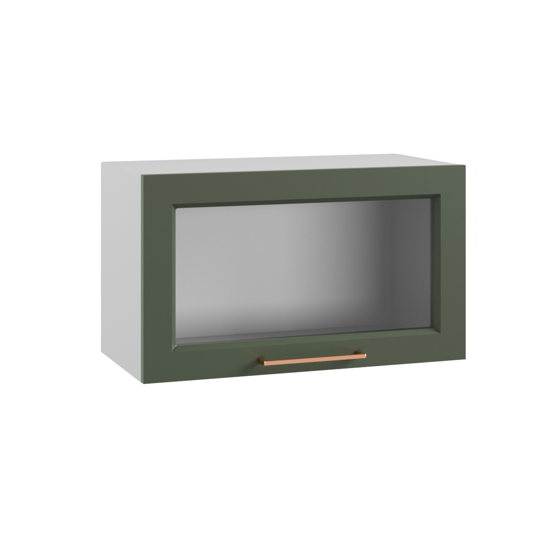 Кухня Квадро ПГС 600 Шкаф верхний горизонтальный стекло