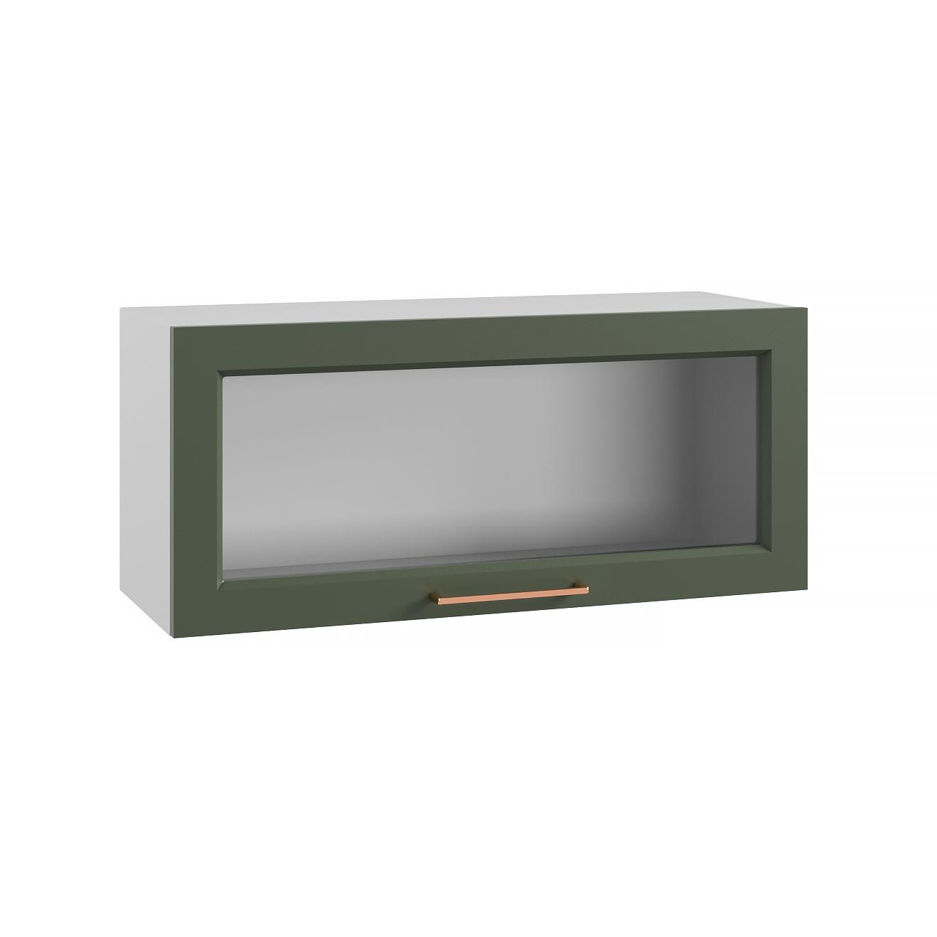 Кухня Квадро ПГС 800 Шкаф верхний горизонтальный стекло