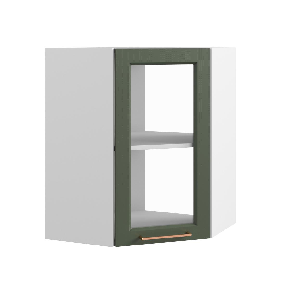 Кухня Квадро ПУС 550 Шкаф верхний  угловой стекло