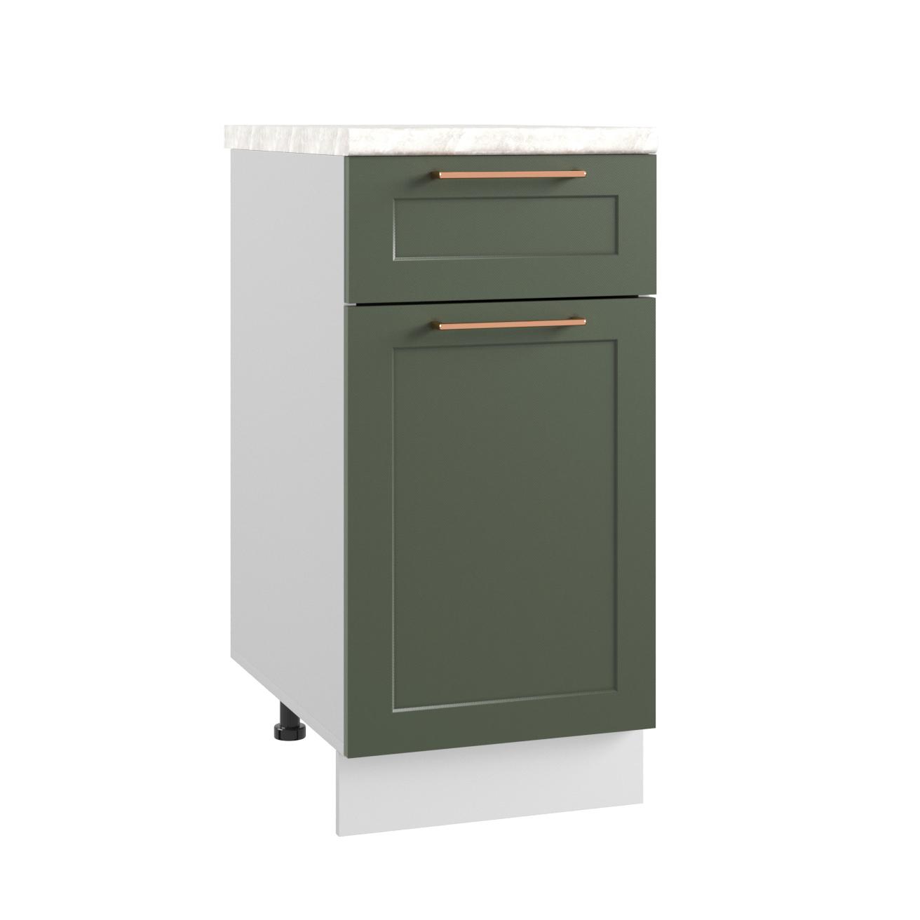 Кухня Квадро С1Я 400 Шкаф нижний с ящиком