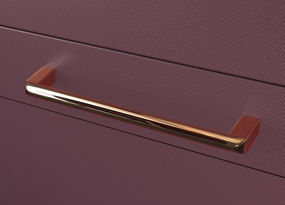 Ручка-скоба  128 Розовая медь