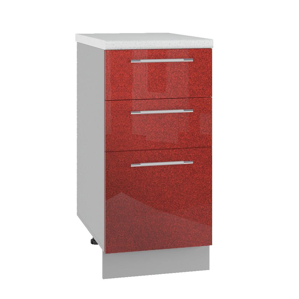 Кухня Олива МСЯ 400 Шкаф нижний с ящиками глубина 330