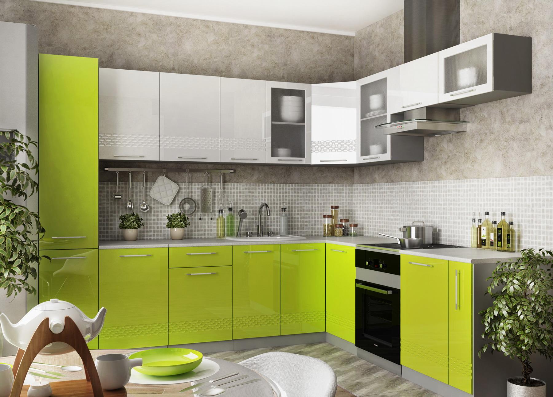 Кухня Капля 3D П 450 Шкаф верхний петли справа