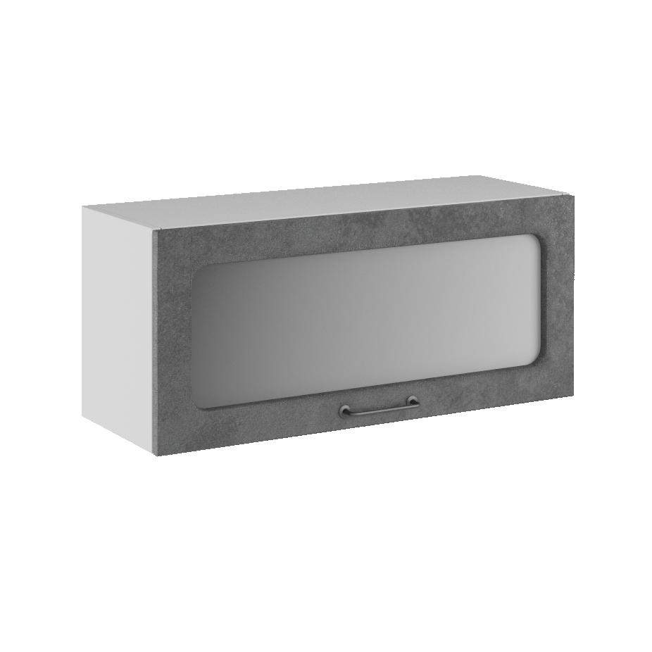 Кухня Лофт ПГС 800 Шкаф верхний горизонтальный стекло