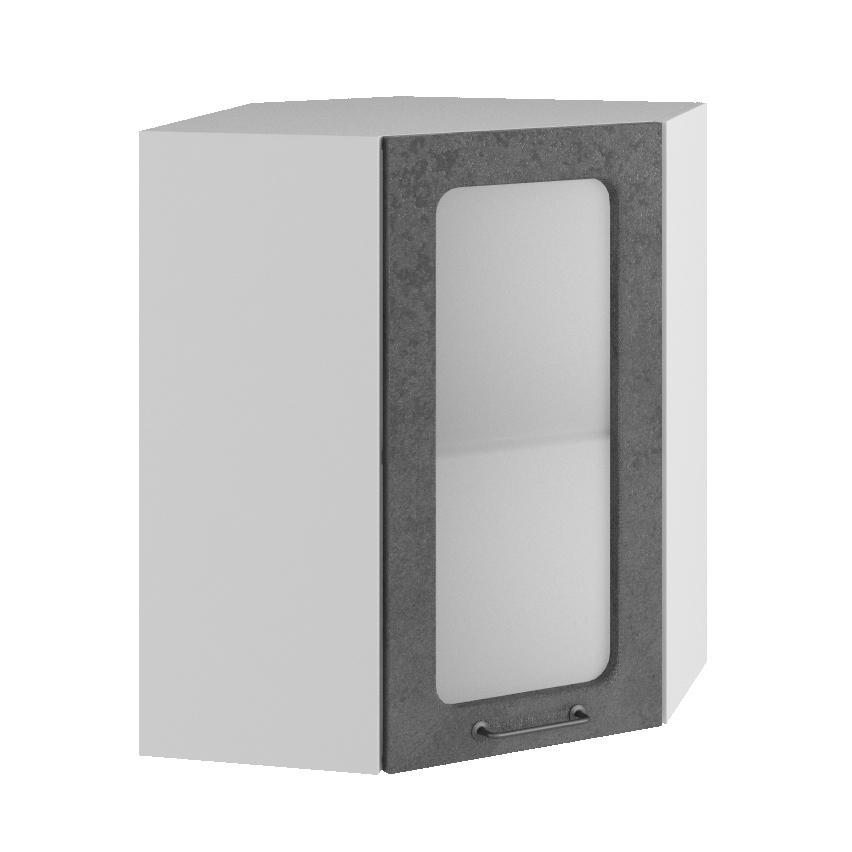 Кухня Лофт ПУС 550 Шкаф верхний угловой стекло