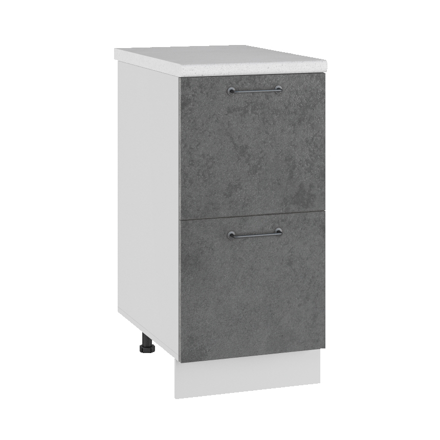 Кухня Лофт СК2 400 Шкаф нижний 2 ящика