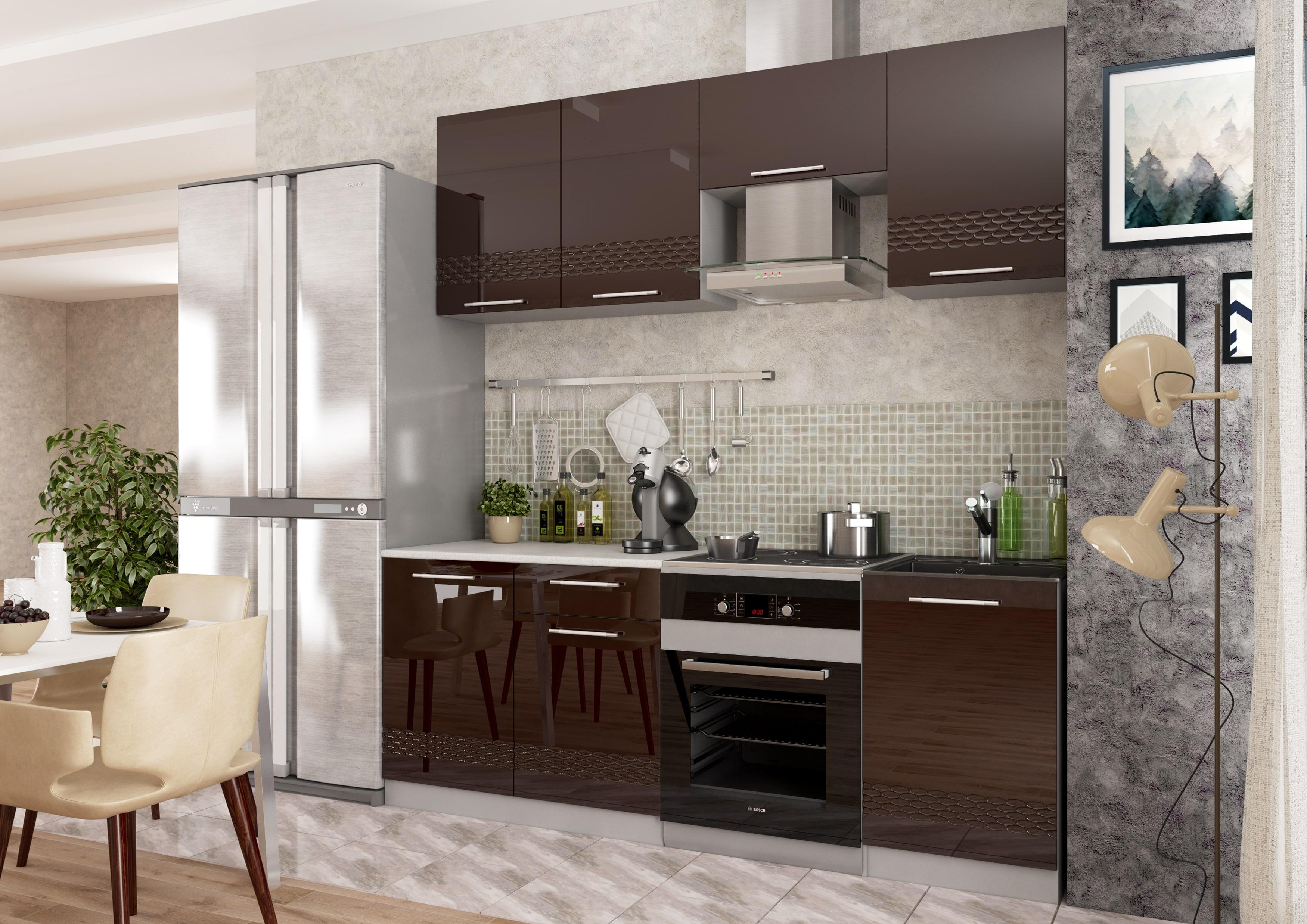 Кухня Капля 3D Пенал ПН 400 петли справа