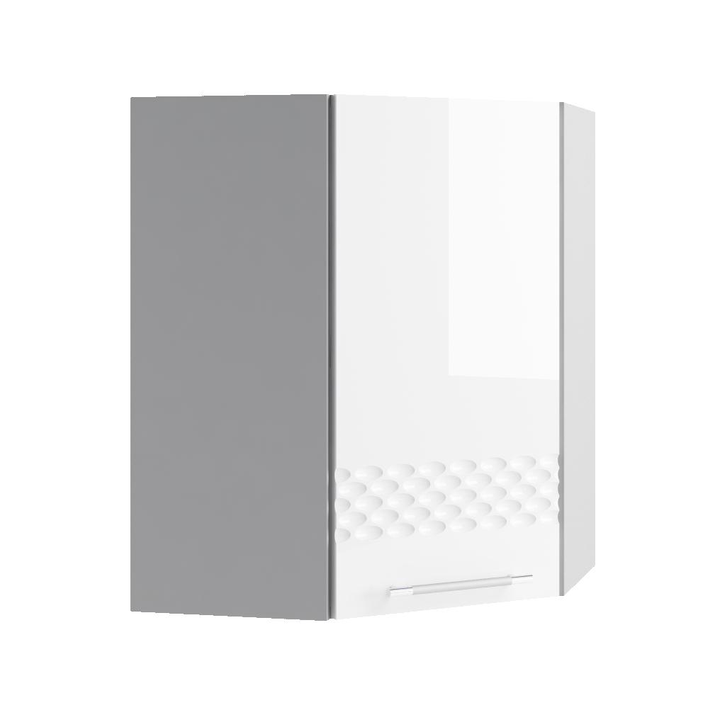 Кухня Капля 3D ПУ 550*550 Шкаф верхний петли слева