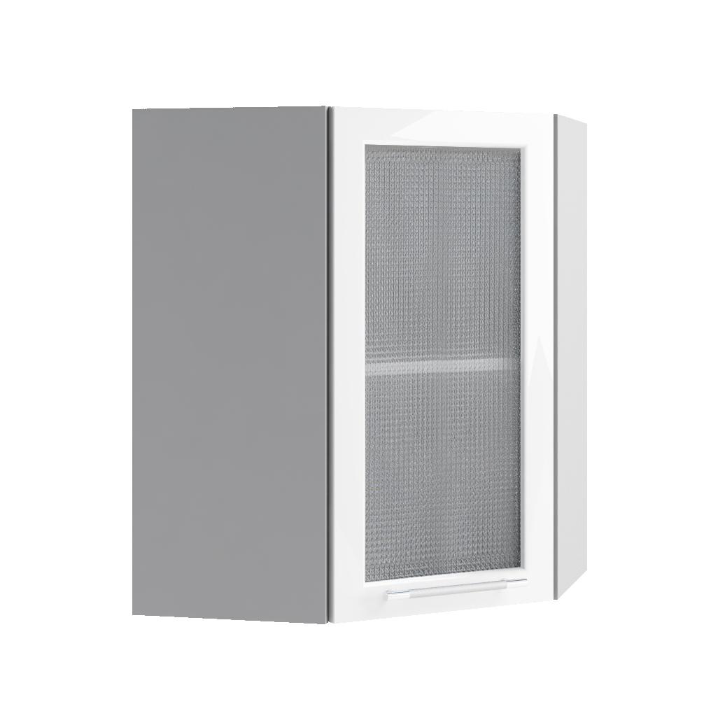 Кухня Капля 3D ПУС 550*550 Шкаф верхний стекло