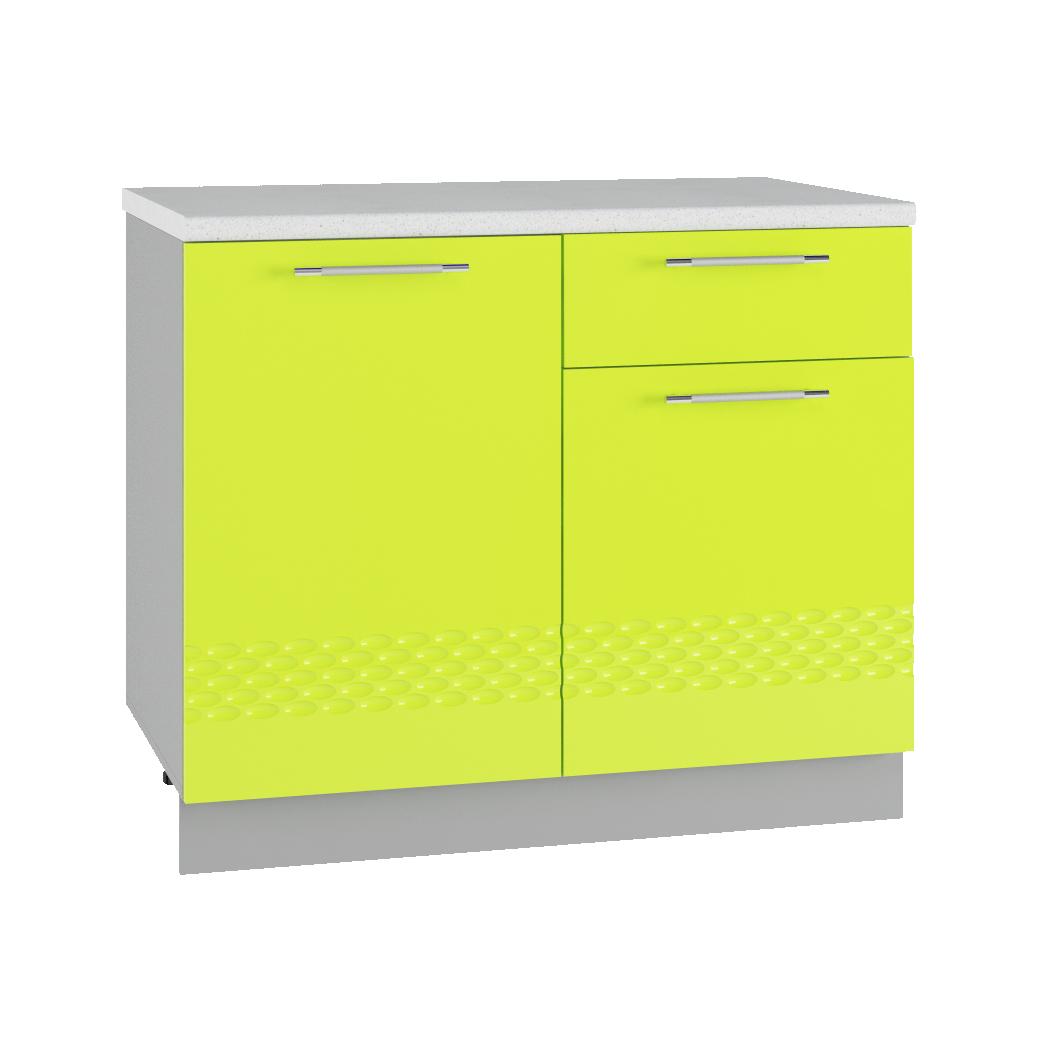Кухня Капля 3D С 1000 Шкаф нижний петли справа