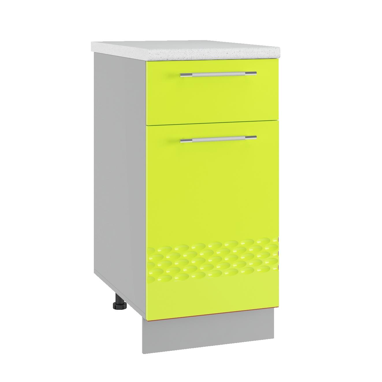 Кухня Капля 3D С1Я 400 Шкаф нижний 1 ящик петли справа