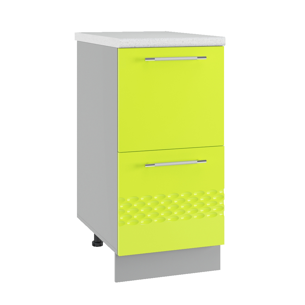 Кухня Капля 3D СК2 400 Шкаф нижний комод 2 ящика