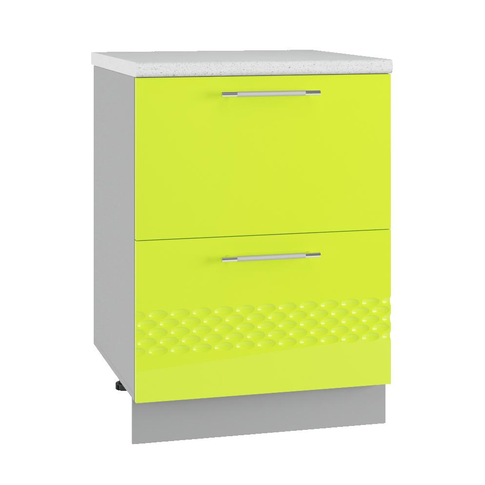 Кухня Капля 3D СК2 600 Шкаф нижний комод 2 ящика