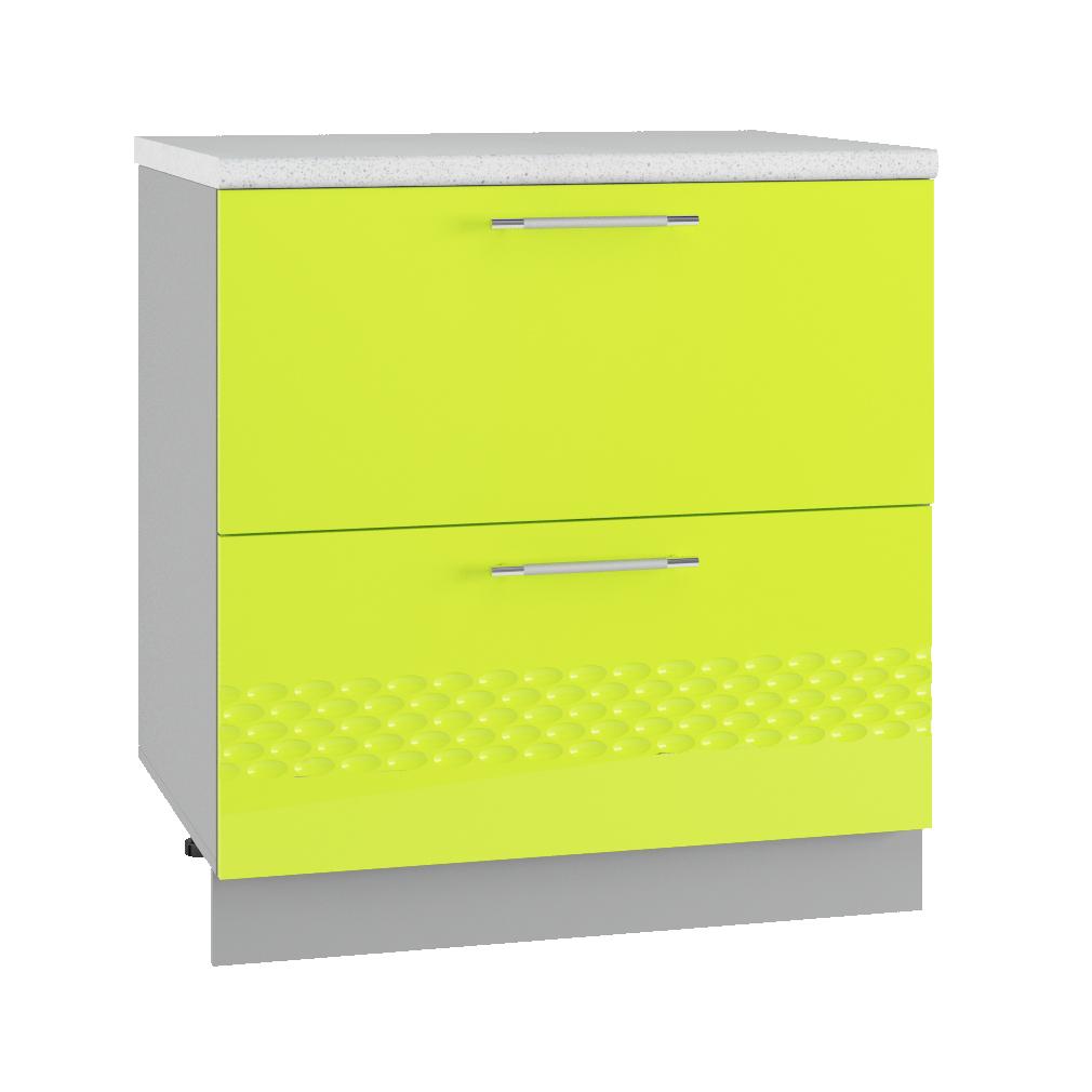 Кухня Капля 3D СК2 800 Шкаф нижний комод 2 ящика