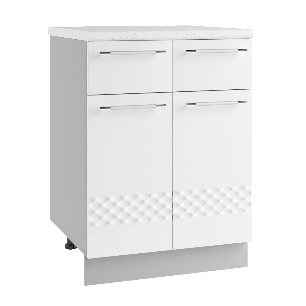 Кухня Капля 3D С2Я 600 Шкаф нижний 2 ящика