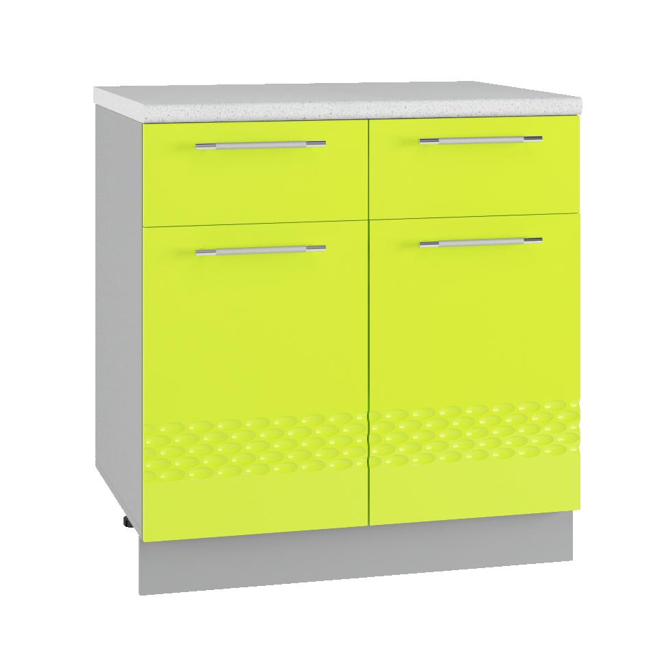 Кухня Капля 3D С2Я 800 Шкаф нижний 2 ящика