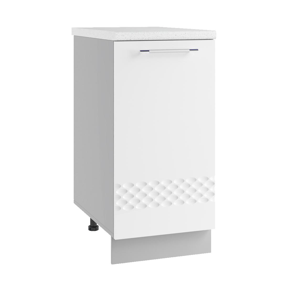 Кухня Капля 3D С 400 Шкаф нижний петли слева