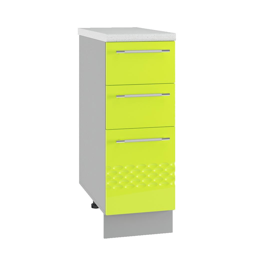 Кухня Капля 3D СЯ 300 Шкаф нижний ящики