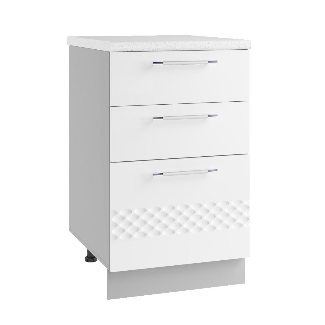 Кухня Капля 3D СЯ 500 Шкаф нижний ящики