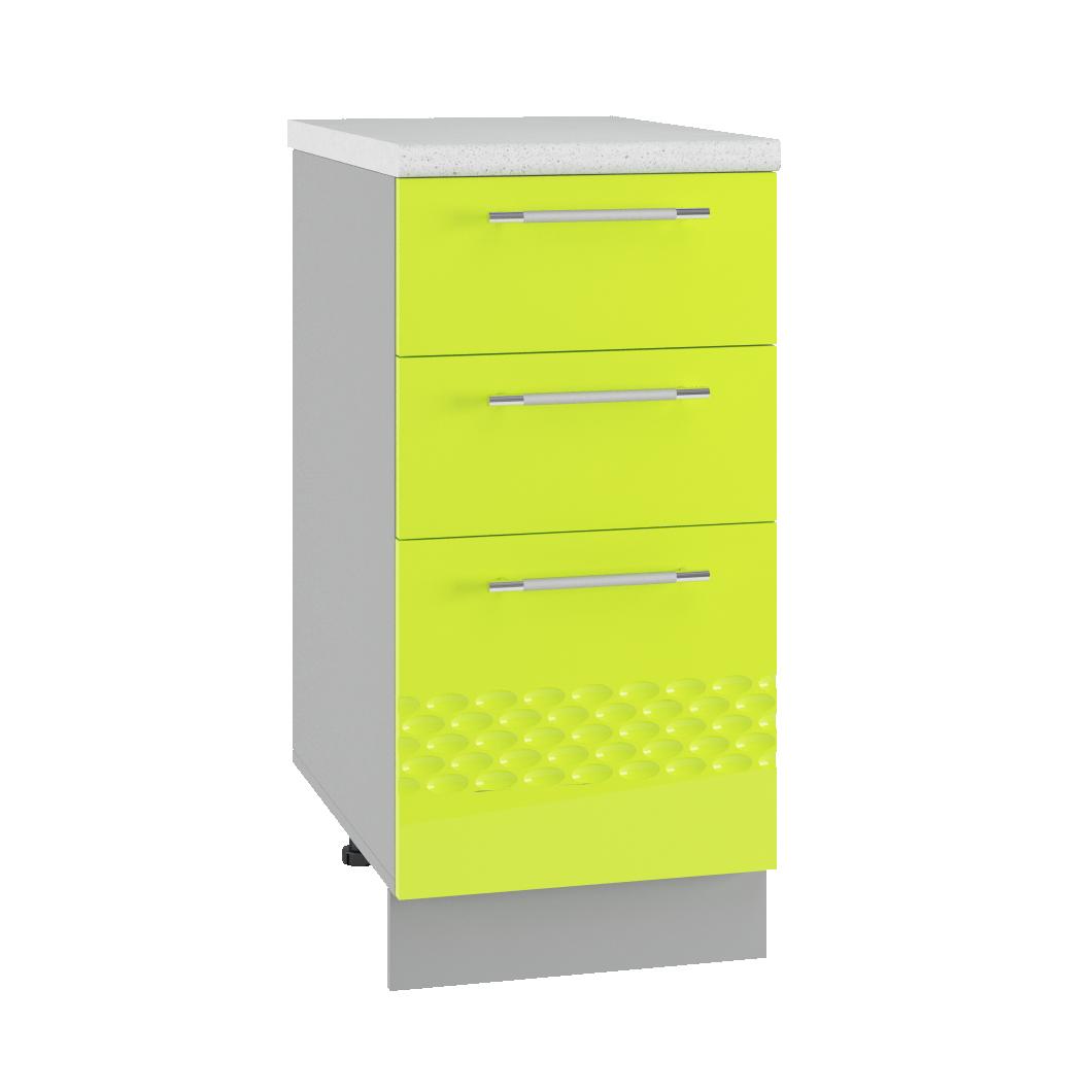 Кухня Капля 3D СМЯ 400 ящики сметабоксами