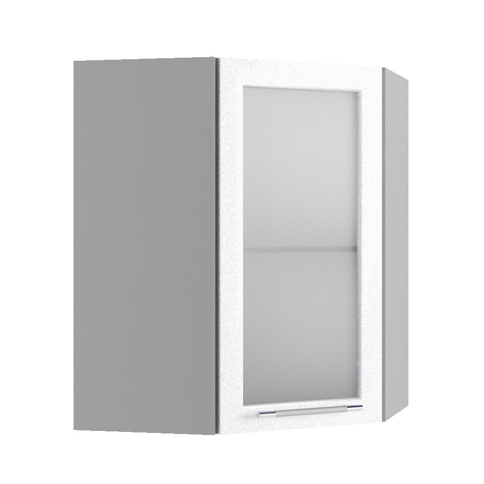 Кухня Олива ПУС 550*550 Шкаф верхний угловой стекло