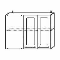 Кухня Настя Шкаф верхний 1000 угловой стекло