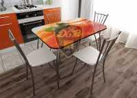 Стол обеденный Апельсин стекло