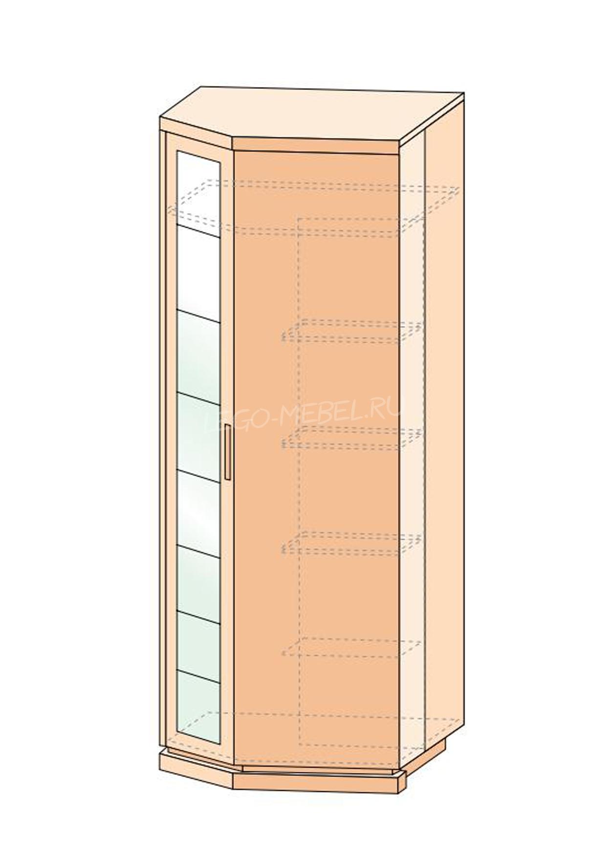 Петра-М шкаф угловой с зеркалом
