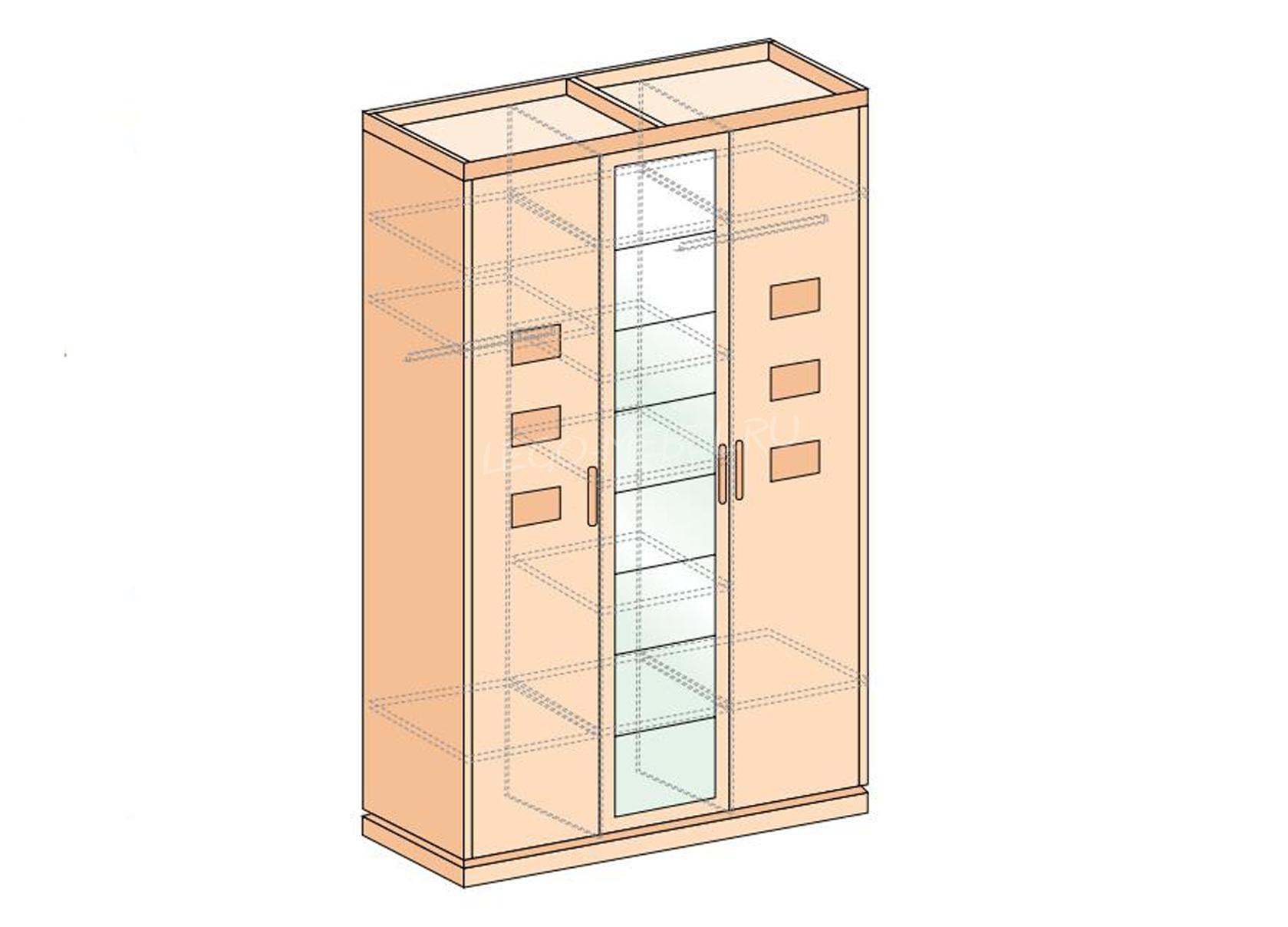 Петра-М шкаф 3-х дверный