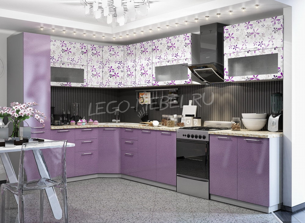 Кухня Флора угловая 2050*2850