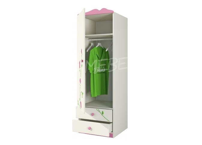Шкаф д/одежды Тедди Ш60-1Д1 / Д0; L / P