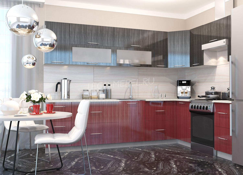Кухня Страйп Шкаф верхний горизонт. стекло ШВГС  600