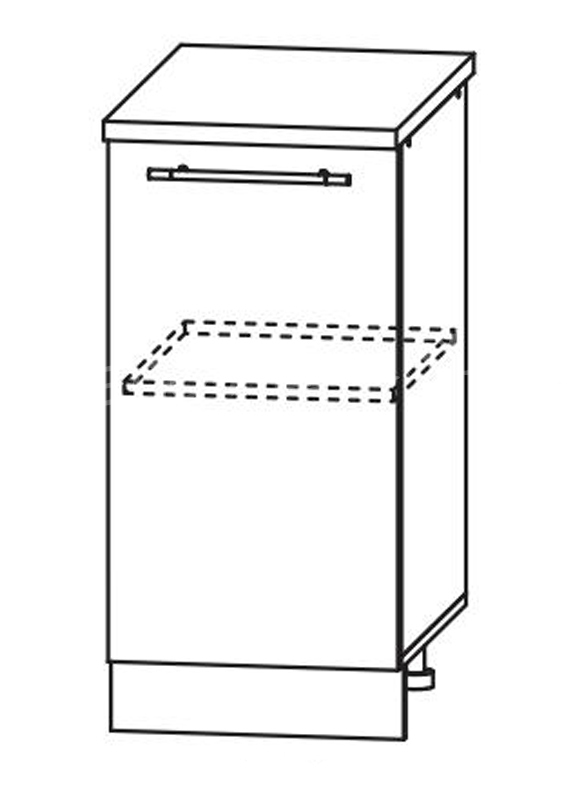 Кухня Страйп Шкаф нижний ШН 400