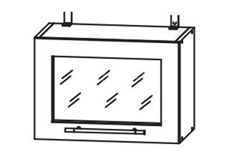 Кухня Страйп Шкаф верхний горизонт. стекло ШВГС  500