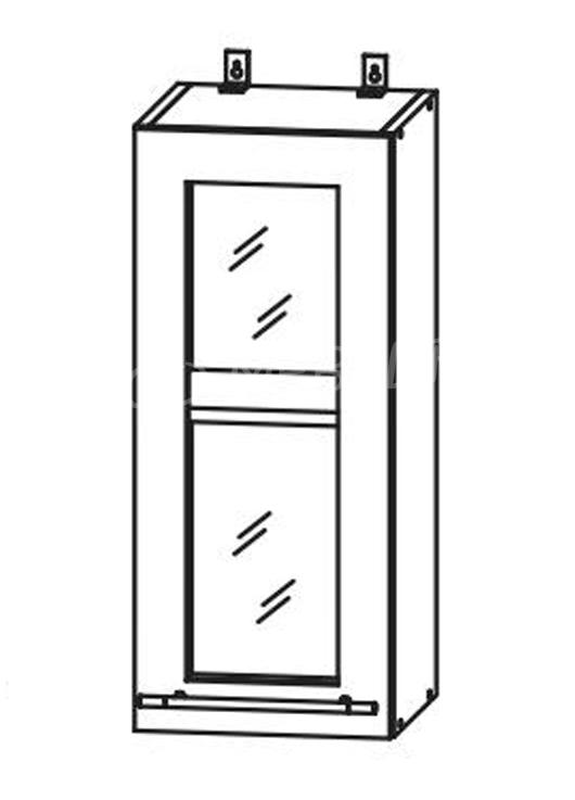 Кухня Страйп Шкаф верхний стекло ШВС 300
