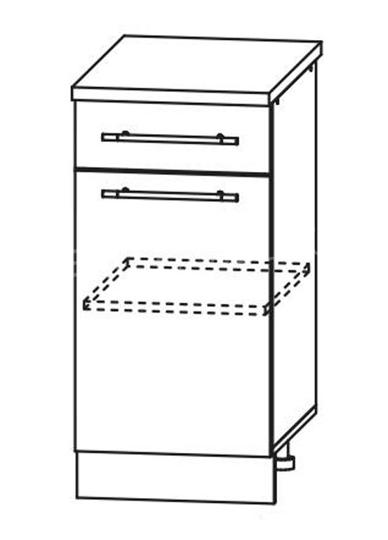 Кухня Страйп Шкаф нижний с ящиком ШН1Я 400
