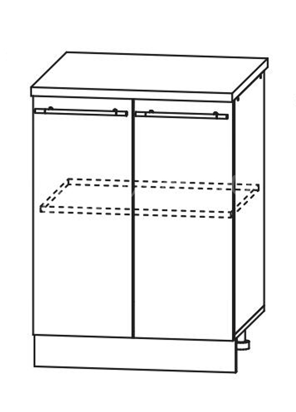 Кухня Страйп Шкаф нижний ШН 600