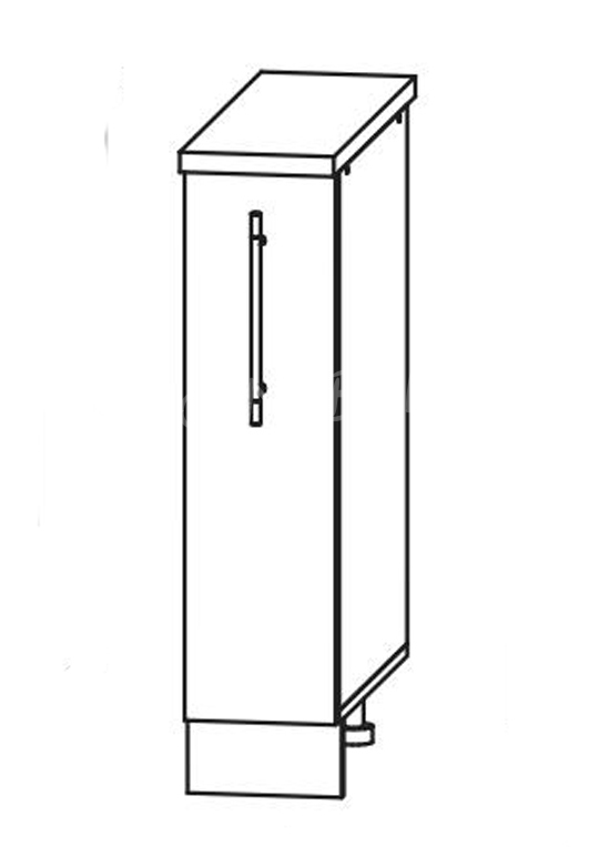 Кухня Страйп Шкаф нижний бутылочница ШНБ 200