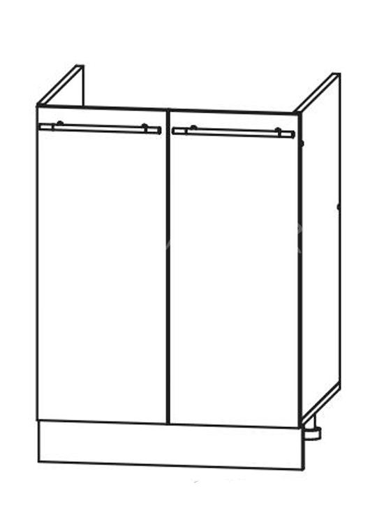 Кухня Страйп Шкаф нижний под мойку ШНМ 600