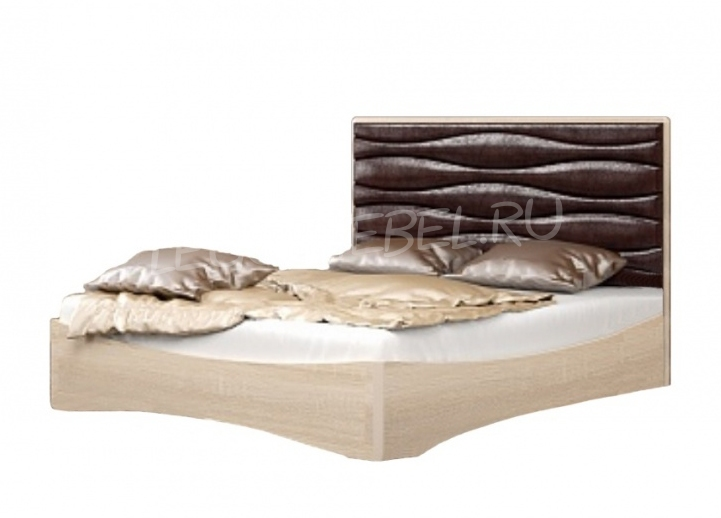 Спальня Джустин Кровать 1600 / кожа chocolate /