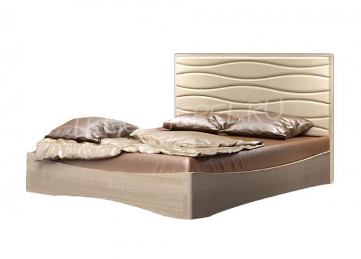 Спальня Джустин Кровать 1600 / кожа bisquit /