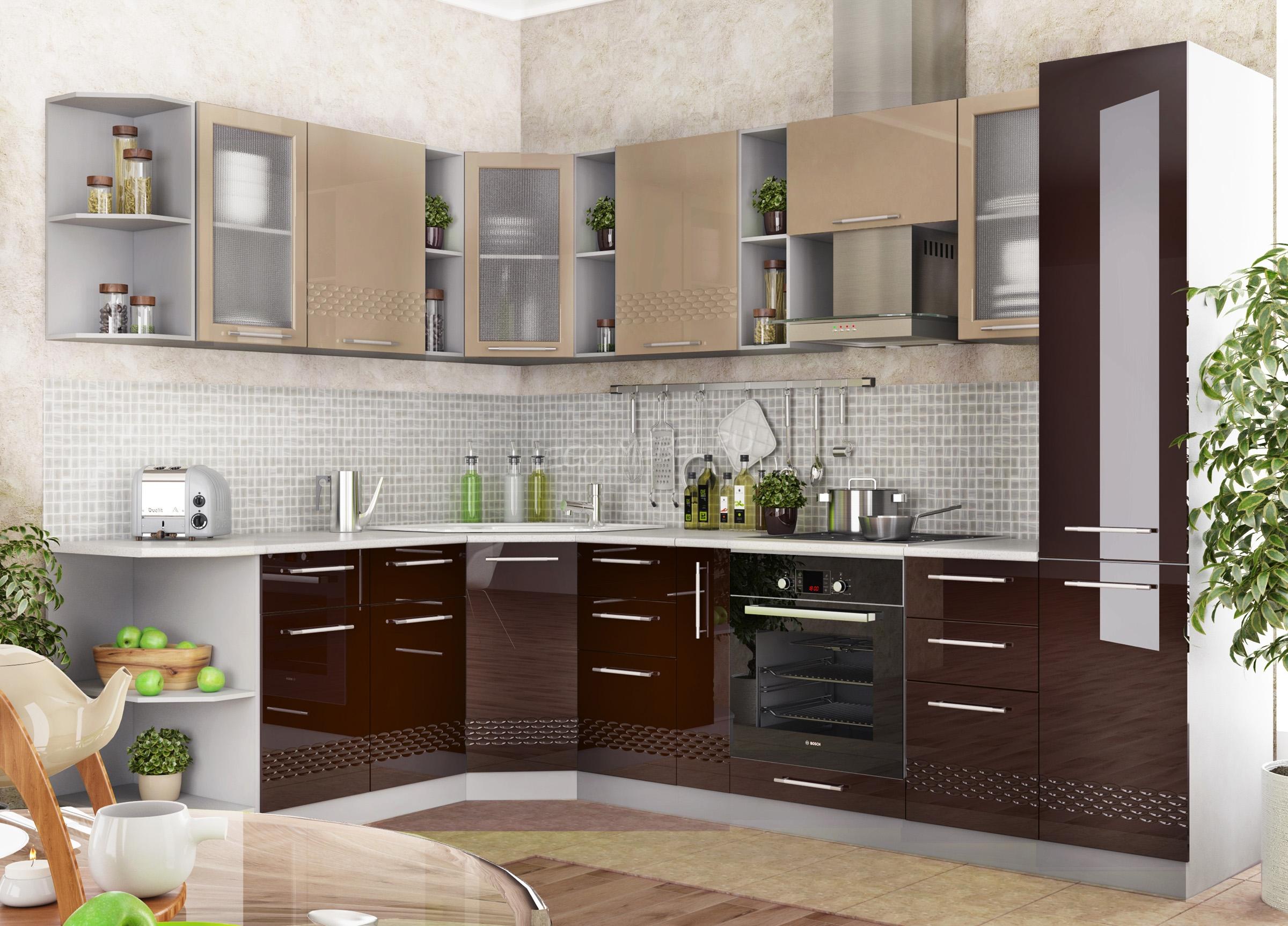 Кухня Капля 3D СТ 400 Шкаф нижний торцевой правый