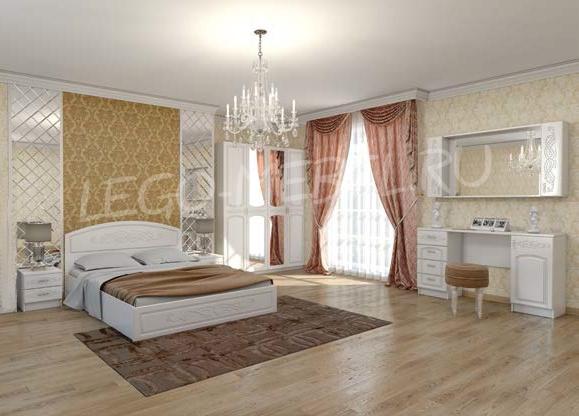Спальня Венеция комод-тумба ТВ КМ-01