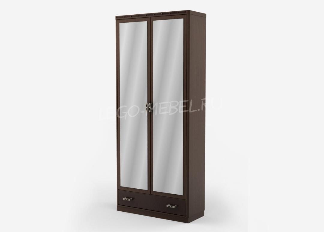 Кэри Голд Шкаф 2-х дверный с зеркалом