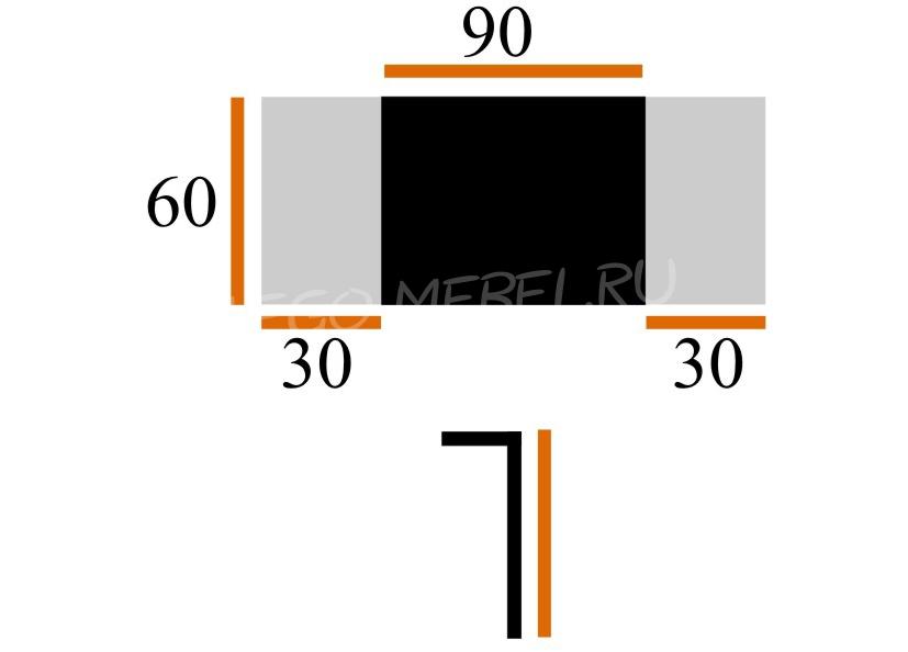 Стол Сиэтл ХР/СТ стекло 60Х90/150