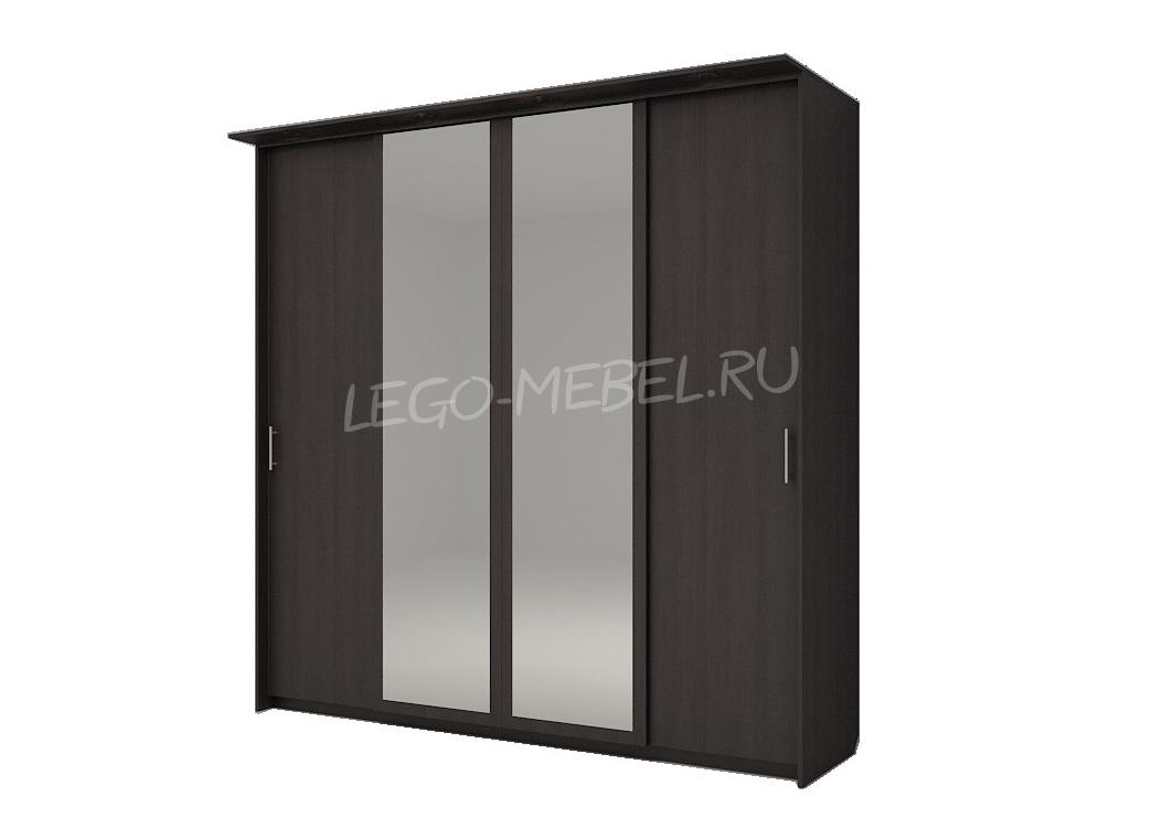 Шкаф купе Топ-Лайн 2362 / 600 / 4 секции / 2 зеркала