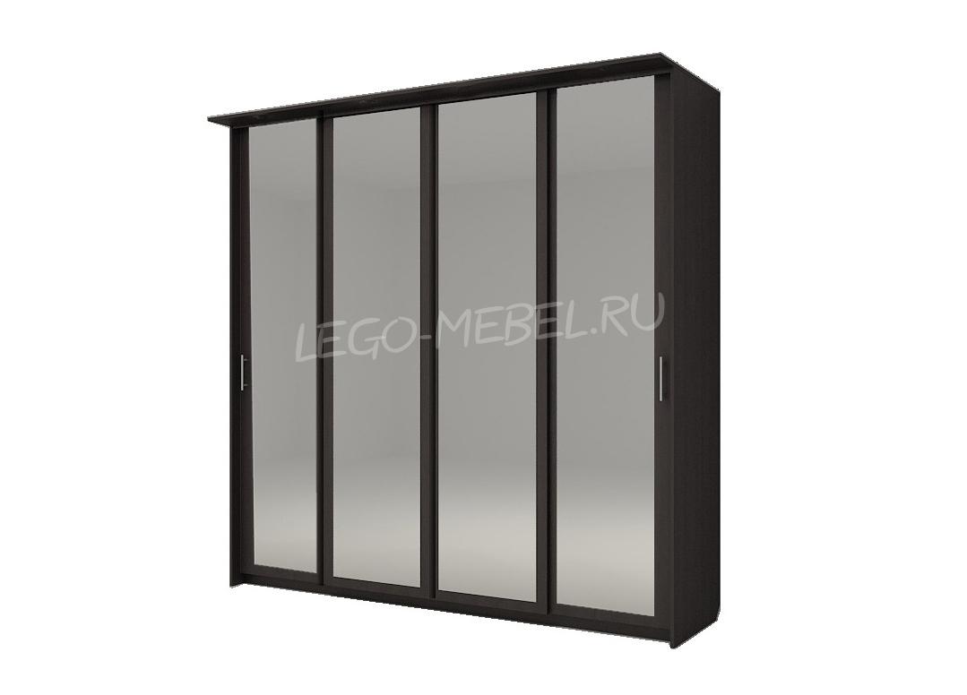 Шкаф купе Топ-Лайн 2362 / 600 / 4 секции / 4 зеркала