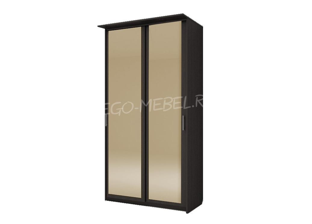 Шкаф купе Топ-Лайн 1190 / 600 / 1 секция / 2 зеркала золото
