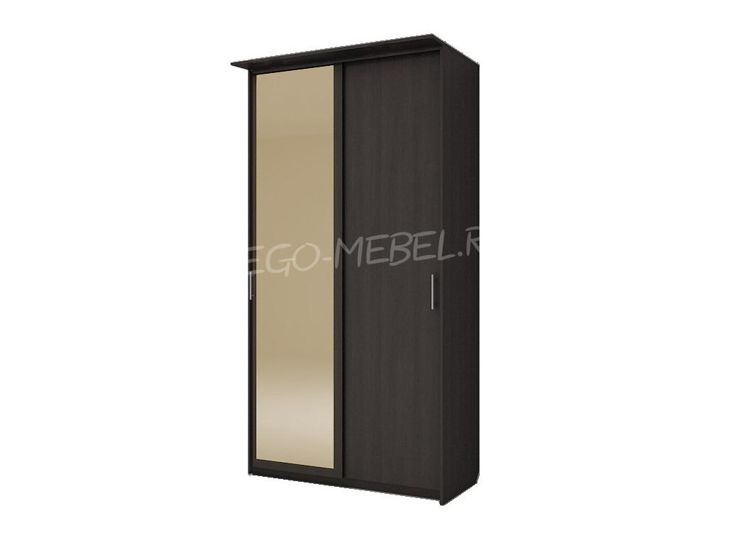 Шкаф купе Топ-Лайн 1190 / 450 / 2 секции / 1 зеркало золото